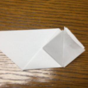 折り紙でネズミの立体的な作り方・折り方 ねずみを折り紙で立体的に 9
