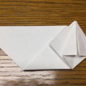 折り紙でネズミの立体的な作り方・折り方 ねずみを折り紙で立体的に 13