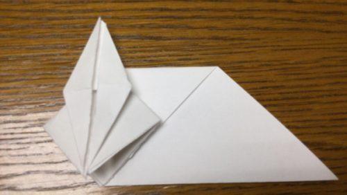 折り紙でネズミの立体的な作り方・折り方 ねずみを折り紙で立体的に 15