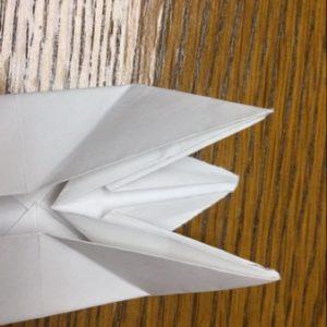 折り紙でネズミの立体的な作り方・折り方 ねずみを折り紙で立体的に 21
