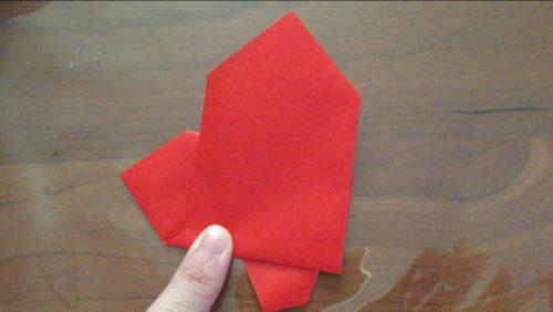 サンタ 折り紙 一枚