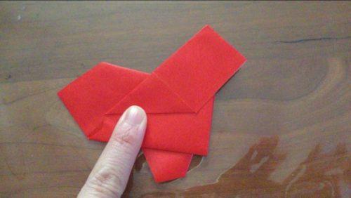 サンタクロース 全身 折り紙