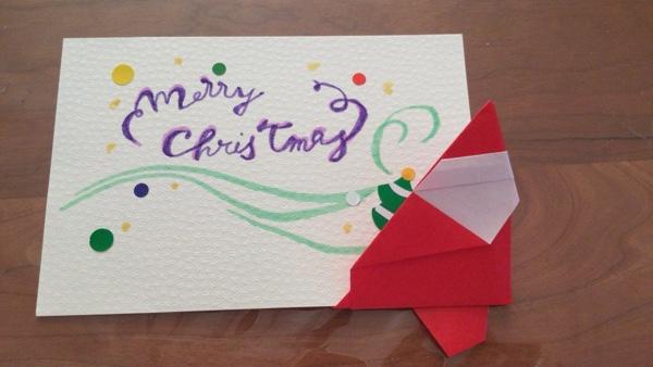 サンタクロース 折り紙 クリスマスカード