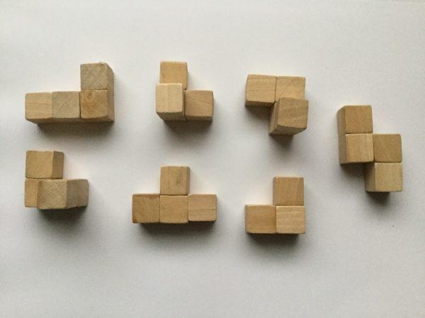 賢人パズル 図形キューブつみき 作り方