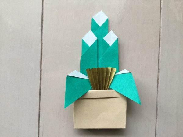 折り紙 お正月 門松 折り方 作り方 工作