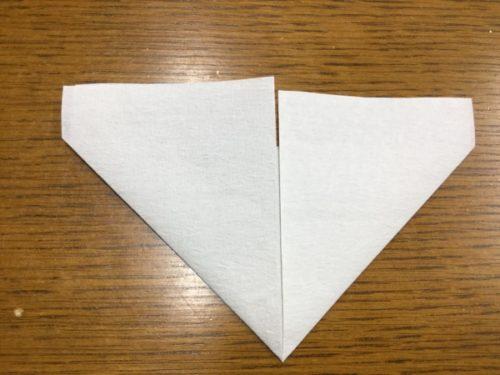 折り紙 ハート 作り方 長方形