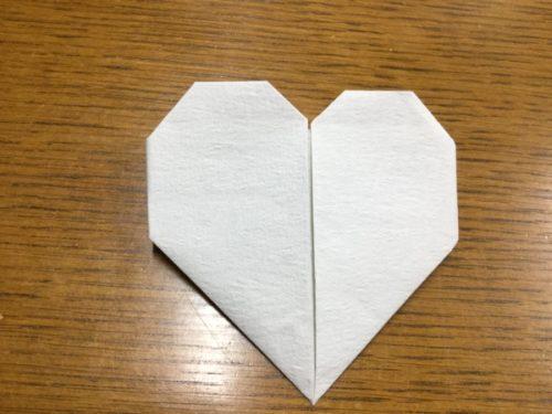 手紙 折り方 ハート 長方形