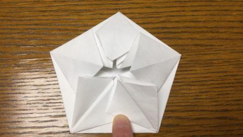 折り紙梅の花リース 解説