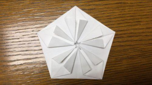 折り紙梅の花立体 折り方解説