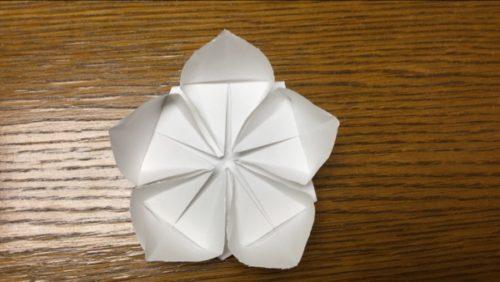 桜 折り紙 立体 簡単 折り方解説