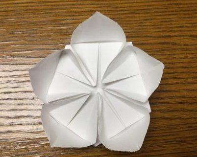 桃・梅・桜 折り紙 立体 簡単 折り方解説