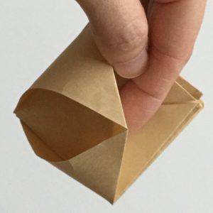 簡単 折り紙 入れ物 箱 立体