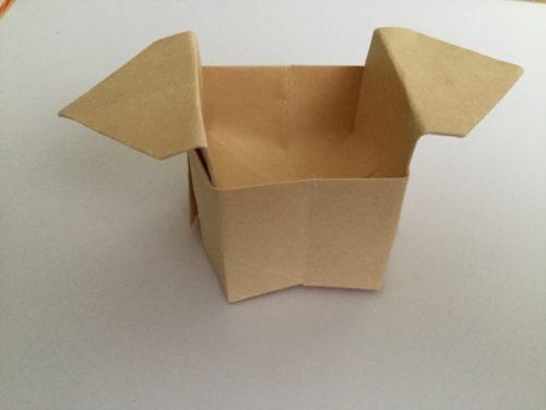 簡単 紙 入れ物 折り紙