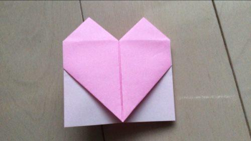 手紙 ハートに折る 正方形