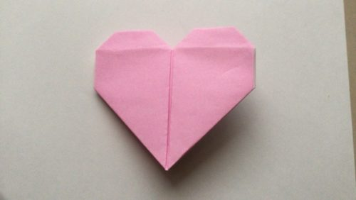 手紙 ハート 折り方 正方形