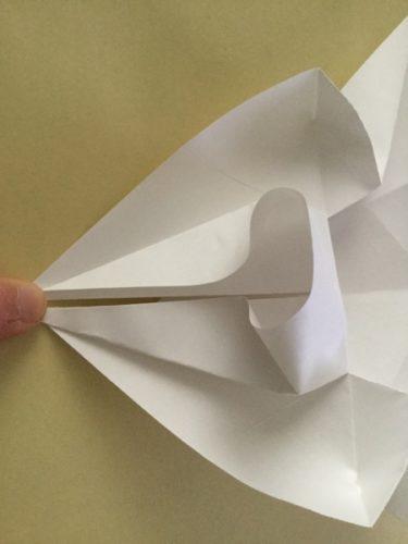 兜 折り紙 かぶれる サイズ
